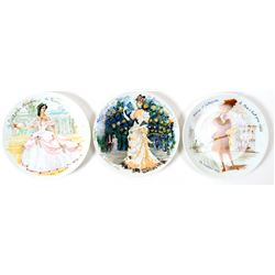 Limoges Collector Plates (3)  (101786)