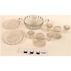 Pressed Glass Bowls and Candelabras  (121560)