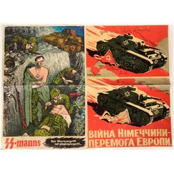 German Anti-Russian and Related WW2 Posters (4)  (109833)