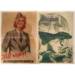 German Propaganda Posters (4) made by Photo enlargement, etc.  (109834)