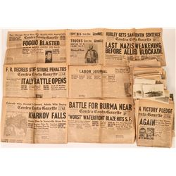 WWII and Railroad Newspaper and other Ephemera  (118996)