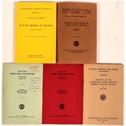 Four Mining Publications of the Nevada State Bureau of Mines , Geology and Mining Series- Bulletins