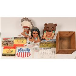 Native American Display Items and other collectibles.  (121679)