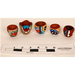 Southwest Design Miniature Pottery Pieces (5)  (121598)