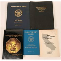 California and Private Gold Coin Reference Books  (118935)