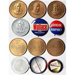 Political Pinbacks and Presidential Medals  (119860)