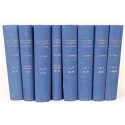 "Rare Set of Eight Books, ""Biographical Dictionary of Medalists""  (118982)"
