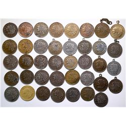$2 1/2 Indian Head Counters Dated 1913 Collection  (120152)