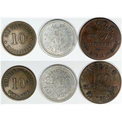 Yuma Arizona, Trade tokens, set of 3 BPOE Elk Money  (119956)