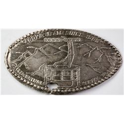 Palm Springs Aerial Tram Silver Elongated Coin  (123031)