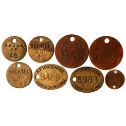 Nine Equipment Tags  (102827)