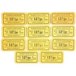 Nugget Cigar Store Cardboard Tokens  (38619)