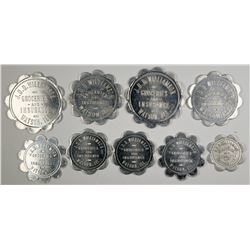 Two sets of JDD Williamson, Watson, Illinois Tokens  (123082)