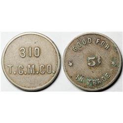 Taunton Copper Mfg. Co. Token  (121331)
