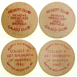Calico Club / Desert Club Brothel Tokens  (101815)