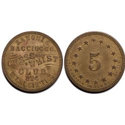 Chess & Whist Club Token  (121409)
