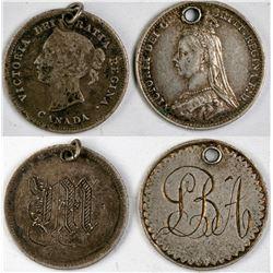 Canada, Britain Love tokens  (121793)