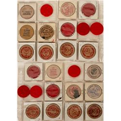 Saloon Nickels and Plastic Tokens  (123062)