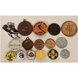 Skiing and Snow Sports Tokens and Pins  (123087)