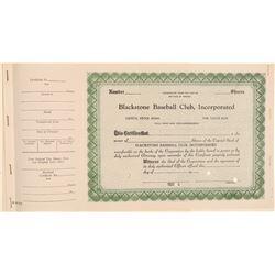 Blackstone Baseball Club, Incorporated Stock  (101421)
