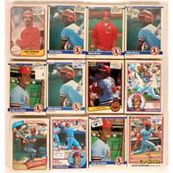 Fleer Cardinals Baseball Cards from the 1984 season  (109898)