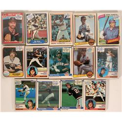 Fleer Indians Baseball Cards from the 1980 Season  (109899)