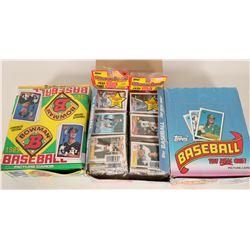 Topps & Bowman 1989 Baseball Card Boxes  (110569)