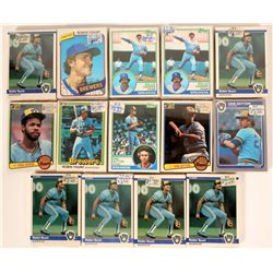 Topps Brewers Baseball Cards from the 1983 Season  (110390)