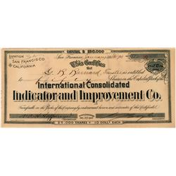 Int'l. Cons. Indicator & Improvement Co Stock  (118444)