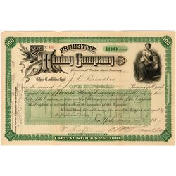 Proustite Mining Company Stock Certificate  (113575)