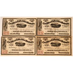Cordillera Gold & Silver Mining Co. Stock Certificates (4)  (113350)