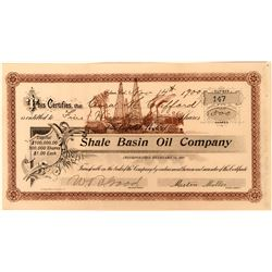 Shale Basin Oil Company Stock, Selma, California, 1900  (118437)