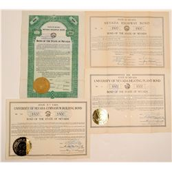 Nevada 1900's Highway Bonds - including RARE Green  (105780)