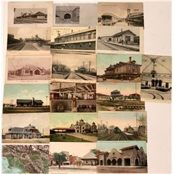 Railroad Depots in Various States Postcards (19)  (118456)