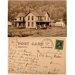 Rare Real Photo Postcard of Hotel Buffalo, Buffalo, Colorado  (118403)