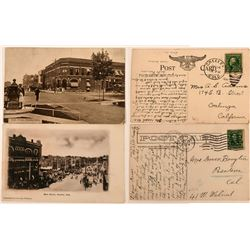 Postcards of Main Street in Greeley (2 different)  (118511)