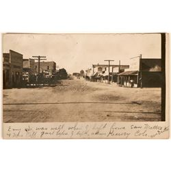 Kersey, Colorado Street Scene Real Photo Postcard  (118512)