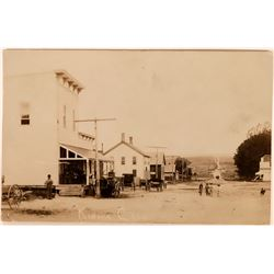 Kiowa, Colorado Real Photo Street Scene Postcard  (118409)