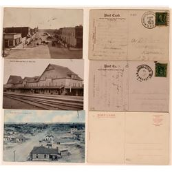 Postcards from La Junta, Colorado Includes Street Scene & Train Station (3)  (118419)