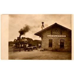 Littleton, Colorado Railroad Station Real Photo Postcard  (118407)