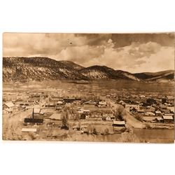 Meeker, Colorado Birdseye View Real Photo Postcard  (118416)