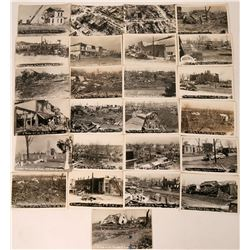 Bunkerhill, Illinois Tornado Wreakage Real Photo Postcards (25)  (118499)