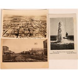 Artesia, New Mexico Postcards (3)  (118468)