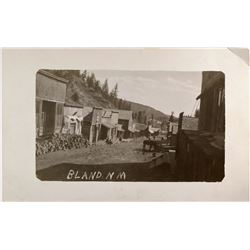 Bland, New Mexico Ghost Town Real Photo Postcard (1)  (118467)