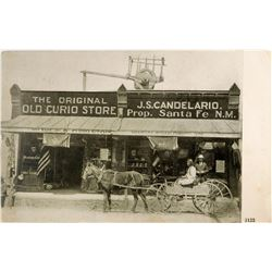 Candelario's Curio Postcard Postmarked Moriarity, New Mexico (1)  (118469)