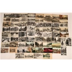 Disaster Postcards- Natural Disasters and Fires (70)  (118500)