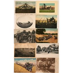 Farm Tractors Postcards (10)  (118494)