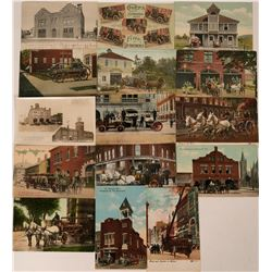 Fire Departments Postcards (15)  (118495)