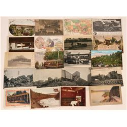 Railroad Postcards Depicting Various Routes, Engines and Crashes (19)  (118544)