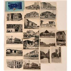 Santa Barbara 1925 Earthquake Damage Postcards & Booklet (16)  (118480)
